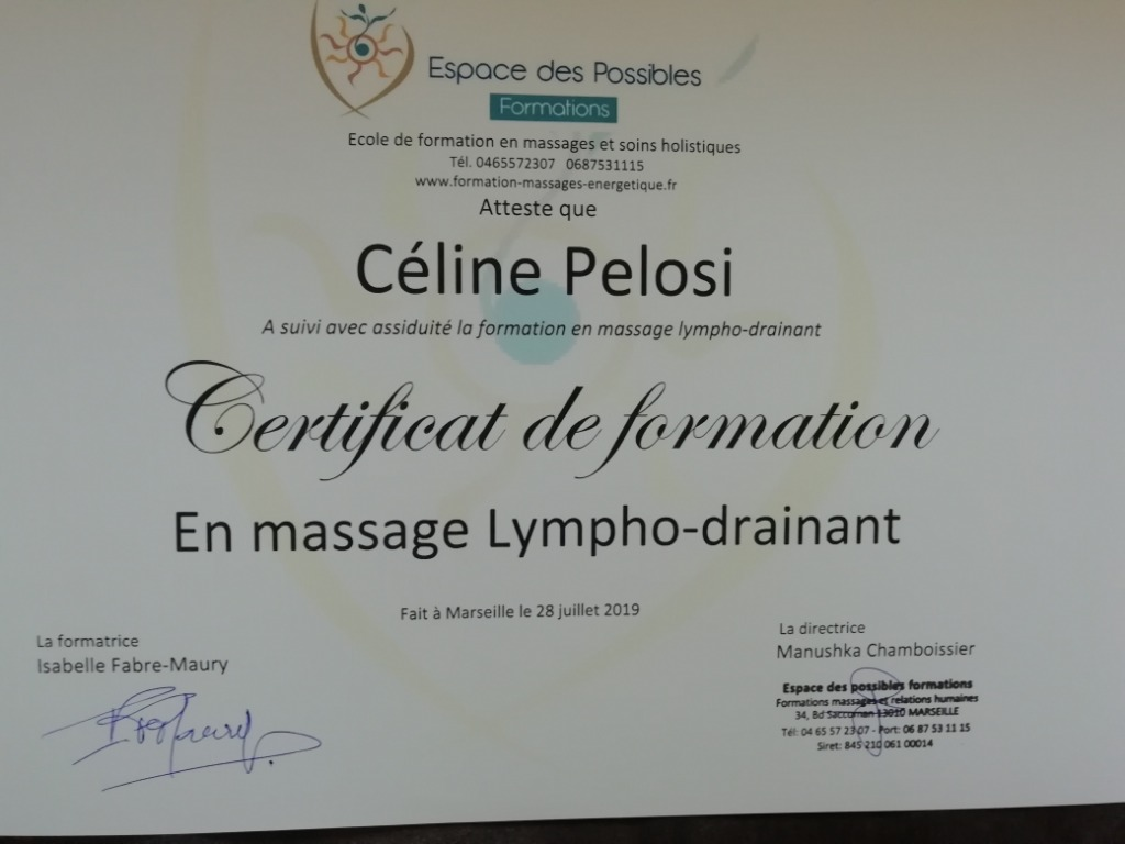 photo diplome Céline Pelosi